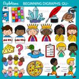 Beginning Digraphs Qu Words Clipart