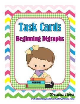 Beginning Digraphs - Task Cards