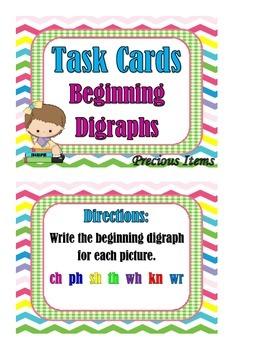 Beginning Digraphs - Task Cards