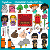 Beginning Digraphs Th Words Clipart