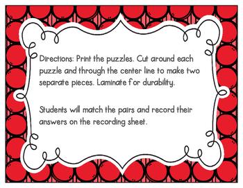 Beginning Digraphs Vocabulary Puzzles