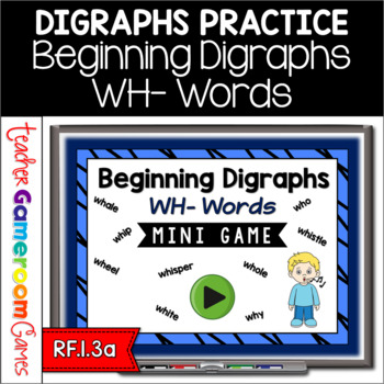 Beginning Digraphs Wh Mini Game