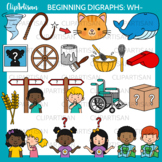 Beginning Digraphs Wh Words Clipart