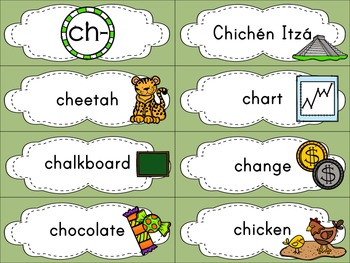 Beginning Digraphs - Word Wall Cards