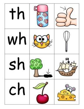 Beginning Digraphs Word Work