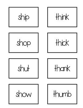 Beginning Digraphs Word Work Center