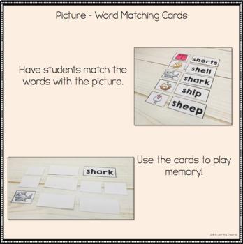 Beginning Digraphs Word Work Center