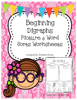Beginning Digraphs Worksheet Sorts