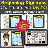 Beginning Digraphs sh, th, ch, wh Digraphs Digital Boom Ca