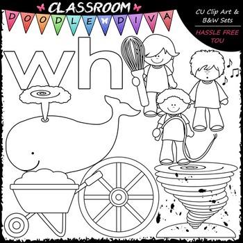 Beginning Digraphs Clip Art (wh) - Phonics Clip Art