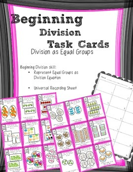 Beginning Division Equal Groups Task Cards