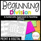 Beginning Division No Prep Unit - Dividing by 2,3,4, and 5