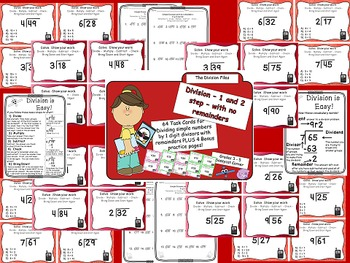 Beginning Division Task Card Bundle - Simple Division by 1 digit divisors