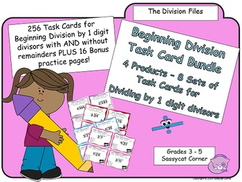 Beginning Division Task Card Bundle - Simple Division by 1