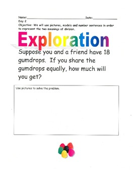 Beginning Division Word Problems- By: Ms. Bisker