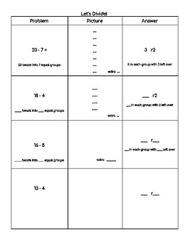 Beginning Division with Remainders