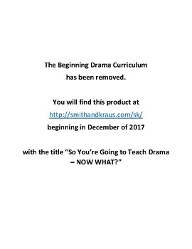 Beginning Drama Curriculum WITH Powerpoints