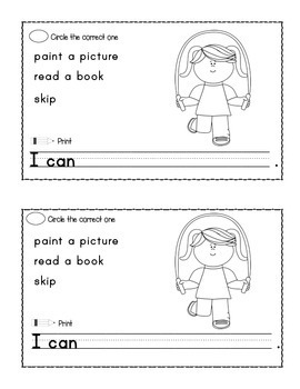 Beginning ESL Mini Book:  I Can...