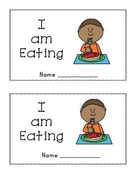 Beginning ESL Mini Book:  I am Eating...