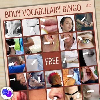 Beginner ESL Vocabulary:  Body Part Bingo