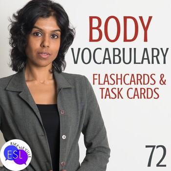 Beginner ESL Vocabulary:  Body Part Task Cards