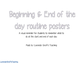 Beginning & End of the Day Routine Posters