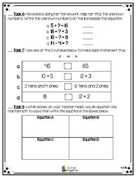 Beginning/End of the Year Math Assessment