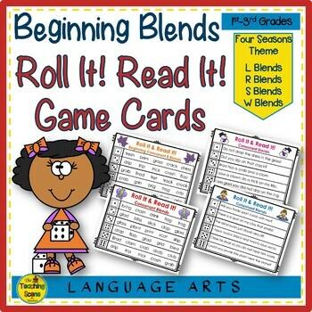 Beginning Consonant Blends Roll & Read It!