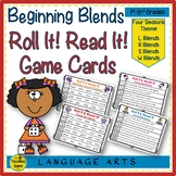 Beginning Consonant Blends:  Seasonal Roll It!  Read It! G
