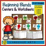 Beginning Consonant Blends Centers & Activities