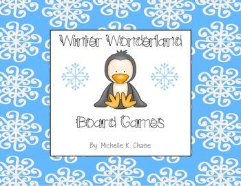 Beginning, Ending, Medial Sounds Winter Wonderland Board Games