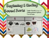 Beginning & Ending Sound Sorts (Differentiated Option)