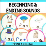 Beginning & Ending Sounds Center (Distance Learning)