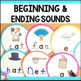 Beginning & Ending Sounds Center - Printable & Digital