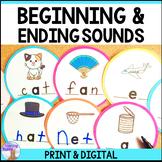 Beginning & Ending Sounds Center (Print & Digital Distance