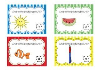 Beginning & Ending Sounds Task Cards