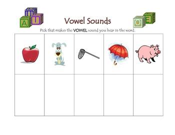 Beginning, Ending, and Vowel Letter Sounds Center