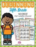 Beginning Fifth Grade (Back to School NO PREP Math and ELA