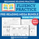 Beginning Fluency Mega Bundle - Letter Name, Letter Sound, Nonsense Word Fluency