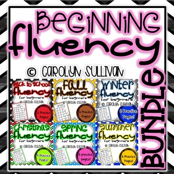 Beginning Fluency Sentences for Beginning Readers BUNDLE