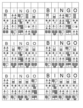 Beginning Fraction Bingo