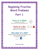 Beginning Fraction Word Problems, Part 1