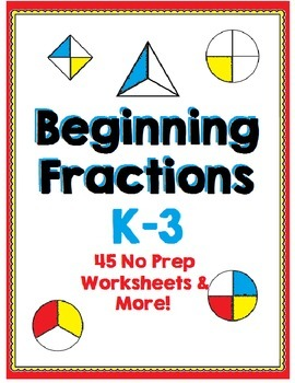 Beginning Fractions - Halves, Thirds and Fourths - 45 No P