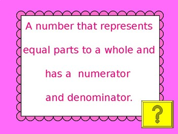 Beginning Fractions Jeopardy