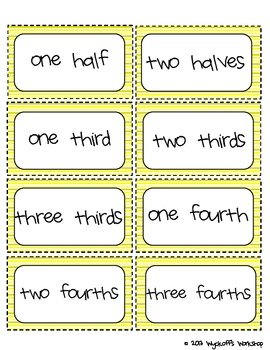 Beginning Fractions Mini-Unit