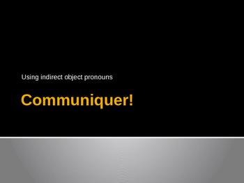 Beginning French II-Indirect Object Pronoun Intro