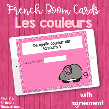 Beginning French verb and vocab task card bundle BOOM CARDS
