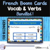 Beginning French verb and vocabulary BOOM CARDS digital ta