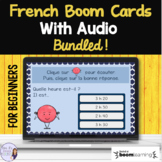 Beginning French vocabulary with audio BOOM CARD BUNDLE Fr