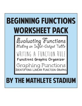 Beginning Functions: Evaluating, Graphing, Input Output Tables